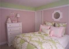 pink and green little girls bedroom - Bing Images