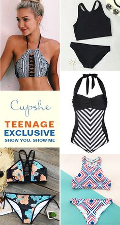 Exlusive teen swimwear makes you close to the sea. So cute design for teen girls. Why not choose one? Tap the picture and take a look at Cupshe.com