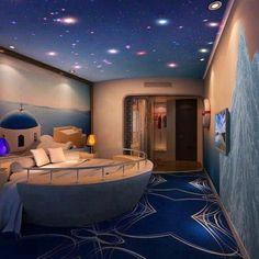 Interesting and creative bedroom design!