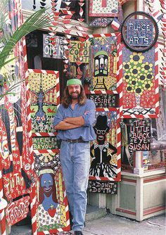 I want one of his signs for my birthday this year. New orleans artist Simon. Find him on Jackson at Magazine.