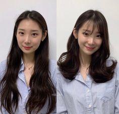 오래 고집해왔던 나만의 헤어스타일.지겹지만 어울리지 않을까 ~ 걱정되서 미루고 계신다면아래 사진 한번 ... Hairstyles With Bangs, Trendy Hairstyles, Korean Long Hair, Hair Cutting Videos, Medium Hair Styles, Long Hair Styles, Ulzzang, Hair Upstyles, Beautiful Asian Women