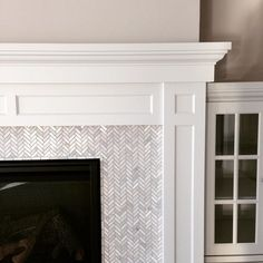 Tiles for Fireplace . 16 New Tiles for Fireplace . Chipped Stone Tile for Fireplace Surround Under the Mantle Mosaic Tile Fireplace, Tile Around Fireplace, Herringbone Fireplace, Fireplace Tile Surround, Fireplace Redo, White Fireplace, Farmhouse Fireplace, Fireplace Remodel, Fireplace Surrounds
