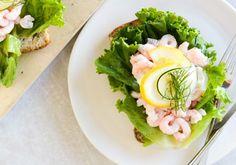 Shrimp Smørrebrød by