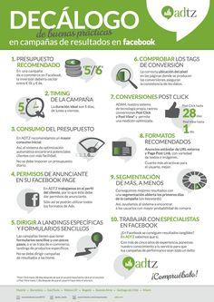 10 buenas prácticas para campañas en FaceBook #infografia #infographic #marketing #socialmedia