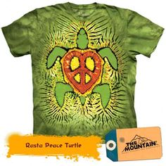 Tricouri The Mountain – Tricou Rasta Peace Turtle - Aquatics Turtle, Peace, Mens Tops, T Shirt, Mountain, 3d, Collection, Products, Tortoise
