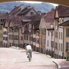 Downhill in Aarau, Switzerland