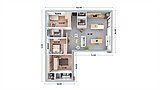 Maison prête à personnaliser : plan à modifier à volonté. La forme de la maison peut être modifiée, les cloisons, baies vitrées et fenêtres déplacées…