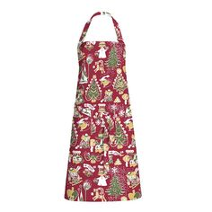 Delightful apron with a Christmas�pattern in red by Tove Jansson. Add some beautiful Moomin magic to your kitchen. The Finlayson fabric is 100% cotton.�Size 85 x 70 cm.Moomin products�by�Finlayson�are inspired by Tove Jansson's original drawing and are authentic �Moomin Characters� license products.�Finlaysonin Joulumuumi-essu, jossa Tove Janssonin piirt�m� kuosi.�Upeat yksityiskohdat ja tyylik�s v�ritys tuovat tyyli� keitti��n. Finlaysonin kangas on 100% puuvillaa.�Koko 85 x 70…