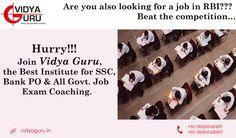 #Bankcoachingcenter #BankcoachingInstitute #bankcoaching Looking for a job in RBI??  Join Vidya Guru and Beat the competition! Call: 9650549487 or Visit: http://www.vidyaguru.in/