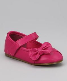 Take a look at this Fuchsia Happy-5 Mary Jane by QQ Girl on #zulily today!