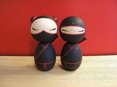 These would make cute cake toppers. Wedding Ninjas Custom Kokeshi doll set