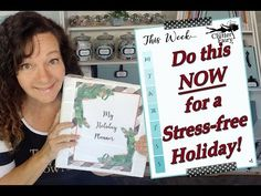 Do this NOW for a stress-free holiday! At Home With Nikki, Clean My Space, Storage Organization, Organizing Tips, Holiday Planner, Program Design, Stress Free, Getting Organized, Party Planning