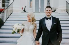 Such a gorgeous, elegant bride and groom! Elegant Bride, Country Estate, Ivory Wedding, Wedding Planning, Groom, June, Wedding Dresses, Beautiful, Black
