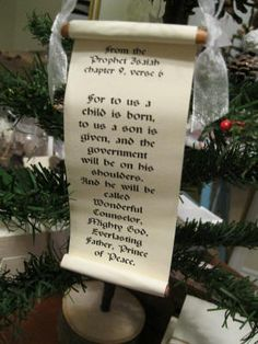 DIY Homemade Christmas Ornaments at BetterBudgeting: Christian Bible Scroll with cinnamon sticks, bible quote