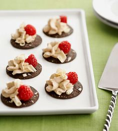 Enjoy your favorite combination of coffee and chocolate with these 63-calorie Tiramisu Bites. More healthy desserts recipes: http://www.bhg.com/recipes/healthy/dessert/healthy-dessert #myplate #desserts