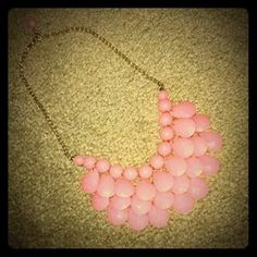 I just discovered this while shopping on Poshmark: NEW Pink Teardrop & Gold Statement Necklace. Check it out!  Size: OS