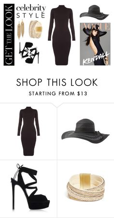 """""""Get The Look : Kendall Jenner"""" by iglifenevereasy ❤ liked on Polyvore featuring Charlotte Russe, Casadei, GUESS, Capwell + Co, GetTheLook, hats and kendalljenner"""