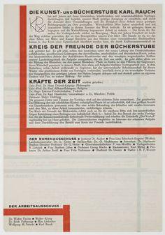 Herbert Bayer. Die Kunst- und Bücherstube Karl Rauch. 1925