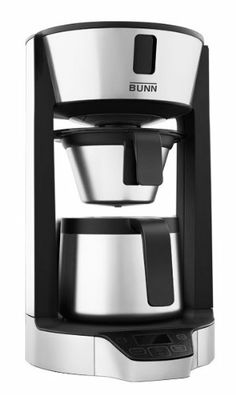 Brew café quality coffee at home with the Bunn Phase Brew 8 Cup High Altitude Thermal Carafe Home Coffee Brewer: a brewing system designed for areas above feet that uses Bunn's patent pending Heat & Release technology Best Coffee Maker, Drip Coffee Maker, Best Espresso Machine, Coffee Store, Coffee Brewer, Cheap Wine, Carafe, Brewing, Wine Online