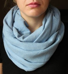 Light Heather Blue Circle Scarf Infinity Scarf by slyscarves, $25.00