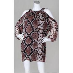 Cold Shoulder Snakeprint   Ashley Dress