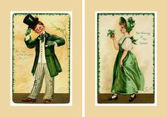 Wearing of the Green. Top of the Mornin Vintage Irish Postcards 1907. Irish Morning St Patricks Print. Irish Print. Irish Holiday Green. St Patricks Day Print in 105x150 mm and 5x7 inches. US$3.00 www.etsy.com/listing/508528951