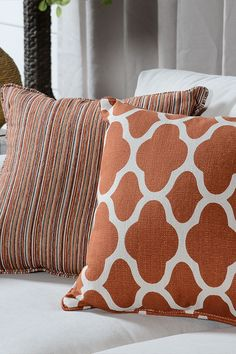 Use throw pillows or other décor to adorn your home with pops of orange. This bright, joyful shade stimulates creativity, productivity, optimism, enthusiasm, and most importantly- happiness!