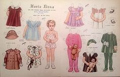 Vintage Pat Stall MARIA ELENA & her Clothes from 1934 Paper Doll Uncut