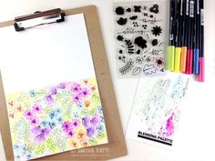 How to watercolor stamped images using Tombow Dual Brush Pens