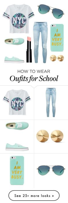 """Popular Looks - High School #1"" by ashleymmck on Polyvore featuring Aéropostale, Vans, BaubleBar, Tiffany & Co., 7 For All Mankind, Eddie Borgo, women's clothing, women, female and woman"