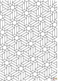 Op art relief illusion - Optical Illusions (Op Art) Coloring Pages for Adults - Just Color Geometric Coloring Pages, Pattern Coloring Pages, Free Printable Coloring Pages, Adult Coloring Pages, Op Art, Graph Paper Drawings, Graph Paper Art, Geometric Mandala Tattoo, Geometric Drawing