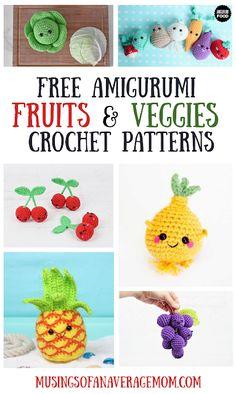 Crochet Fruit, Crochet Food, Crochet Kitchen, Cute Crochet, Crochet For Kids, Crochet Crafts, Crochet Yarn, Crochet Projects, Crochet Summer