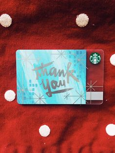 'Tis the season to acknowledge and appreciate. #StarbucksCard