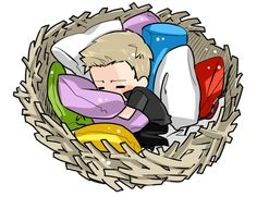 This speaks to me... I want a nest-bed! ~ Is that Clint? HI CLINT!!!