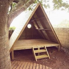 Backyard Trees, Backyard For Kids, Cozy Backyard, Wood Patio Furniture, Furniture Plans, Furniture Sets, Outdoor Play Areas, Kids Play Area, Outdoor Sheds