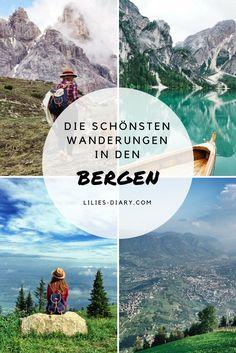 Wir haben die schönsten Wanderrouten in den Bergen für euch gesammelt. Südtirol, Österreich, Meraner Höhenweg, Bregenzerwald, Dolomitenregion, Hochpustertal, Grossglockner und der Nationalpark Harz. Bergen, Outdoor, Wanderlust, Adventure, Austria, Travel, Movie Posters, Trips, Road Trip Destinations