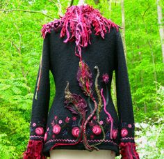 Another amazing sweater coat from Amber Studios, Etsy. This was a custom order