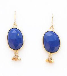 I was given these for a birthday gift from boyfriend. Just love these gorgeous blue and gold earrings.
