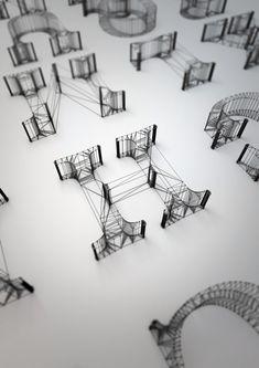 3D Wire Letters Alphabet by Dan Hoopert