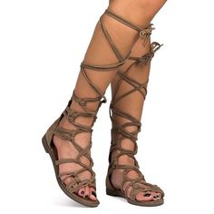 NWT Beige Faux Suede Gladiator Sandals Get ready for any event with these strappy, gladiator sandals!  These Flat Heel Gladiator sandals can lace up to mid-calf with vegan suede straps and a back zipper closure. Non-skid sole and cushioned footbed. Medium width and true to size Breckelles Shoes Sandals