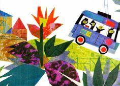 Adrianus Vander Elst: Illustrazione per Il filobus numero 75 di Gianni Rodari - da: I misteriosi Quindici