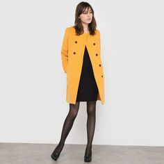 60s Collarless Coat R édition | La Redoute Mobile