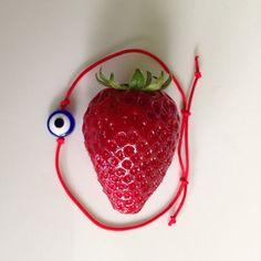 Red String Kabbalah Bracelets Blue Eye by BannerDesignShop on Etsy, $3.90