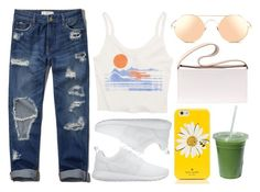 """bright"" by genesislogan ❤ liked on Polyvore featuring NIKE, Abercrombie & Fitch, Billabong, Kate Spade, Linda Farrow and J.W. Anderson"