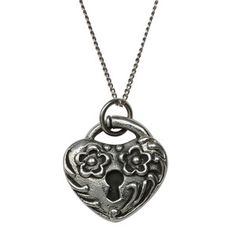 Heart Necklace Flower, $86, now featured on Fab.