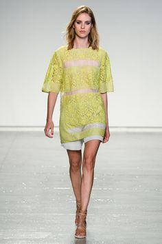 Rebecca Taylor Spring/Summer 2014   The Trend Report: Mellow Yellow http://aol.it/1ny7R6m