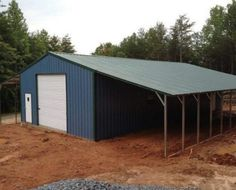 Lean to Garage Plans New 503 Barn with 2 Open Lean to S 10x12 Shed Plans, Free Shed Plans, Garage Apartment Floor Plans, Garage Plans, Metal Building Homes, Building A House, Carport With Storage, Pole Barn Garage, Pole Barns