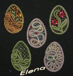 Светлана Баженова (Селезенева) Bruges Lace, Bobbin Lace Patterns, Lacemaking, Lace Heart, Lace Jewelry, Easter Crochet, Egg Decorating, Quilling, Lace Detail