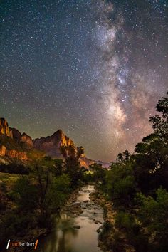 Coming Together - milky way over river and mountains