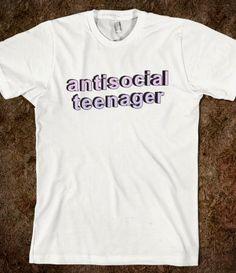 Antisocial Teenager #antisocial #teenager #teen #life #party #hipster #tumblr #grunge #fashion #sassy